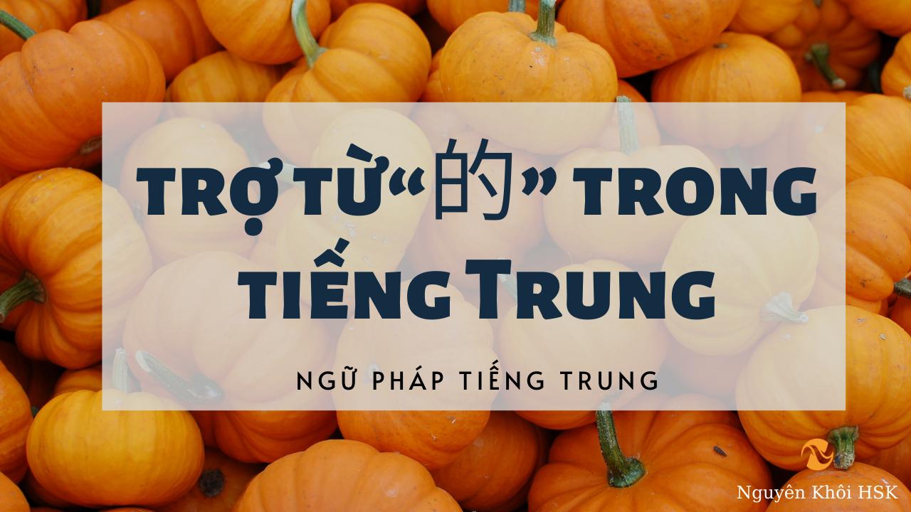 Cách dùng trợ từ 的 trong tiếng Trung
